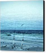 Fishing Canvas Print by Sandy Keeton