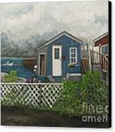 Fishing Shacks Alaska Canvas Print by Reb Frost