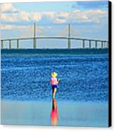 Fishing Tampa Bay Canvas Print by David Lee Thompson