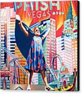 Fishman In Vegas Canvas Print by Joshua Morton