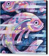 Fishstream Canvas Print by Sarah Porter