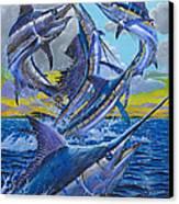 Five Billfish Off00136 Canvas Print by Carey Chen
