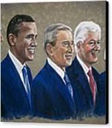 Five Living Presidents 2009 Canvas Print by Martha Suhocke