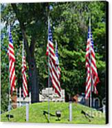 Flag - Illinois Veterans Home - Luther Fine Art Canvas Print by Luther Fine Art
