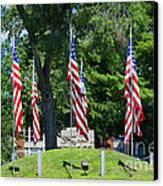 Flag - Illinois Veterans Home - Luther Fine Art Canvas Print