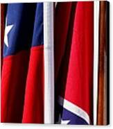 Flags Of The North And South Canvas Print by Joe Kozlowski