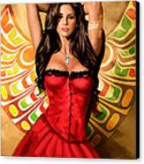 Flamenco Dancer 011 Canvas Print by Catf