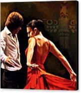 Flamenco Dancer 012 Canvas Print