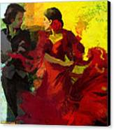 Flamenco Dancer 025 Canvas Print by Catf