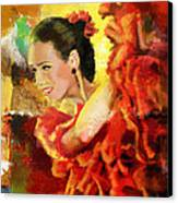 Flamenco Dancer 027 Canvas Print by Catf