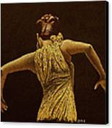 Flamenco Dancer In Yellow Dress Canvas Print by Martin Howard
