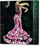 Flamenco Series No. 10 Canvas Print by Mary Machare
