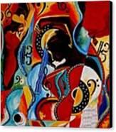 Flamenco Canvas Print by Vel Verrept