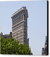 Flat Iron Building Canvas Print by Bill Cannon