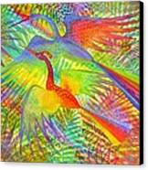 Flight Of Colour And Bliss Canvas Print