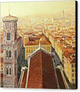 Flight Over Florence Canvas Print by Kiril Stanchev