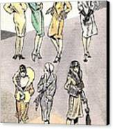 Flirty Flappers Canvas Print by Mel Thompson
