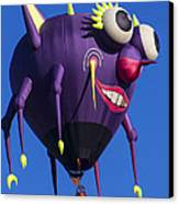 Floating Purple People Eater Canvas Print by Garry Gay