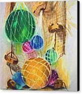Floats And Nets Canvas Print by Sharon Burger