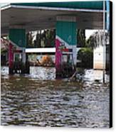 Flooding Of Stores And Shops In Bangkok Thailand - 01135 Canvas Print