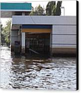Flooding Of Stores And Shops In Bangkok Thailand - 01136 Canvas Print by DC Photographer