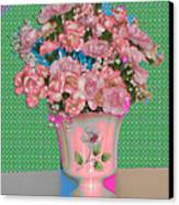 Flora With Purple And Green Canvas Print by Good Taste Art