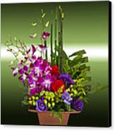 Floral Arrangement - Green Canvas Print by Chuck Staley