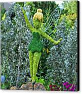 Floral Tinker Bell Canvas Print by Thomas Woolworth