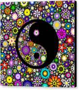 Floral Yin Yang Canvas Print