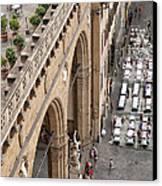 Florence And Piazza Della Signoria Canvas Print