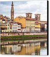 Florence Reflection Canvas Print by Luis Alvarenga