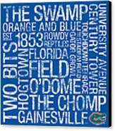 Florida College Colors Subway Art Canvas Print by Replay Photos