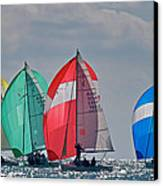 Florida Spinnakers Canvas Print by Steven Lapkin