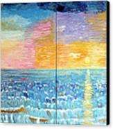 Florida Sunset Canvas Print by Vicky Tarcau