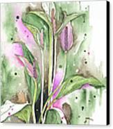 Flower Anthurium 03 Elena Yakubovich Canvas Print by Elena Yakubovich