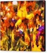 Flower - Iris - Orchestra Canvas Print by Mike Savad