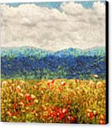 Flower - Landscape - Fragrant Valley Canvas Print by Mike Savad