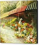 Flower Market Canvas Print