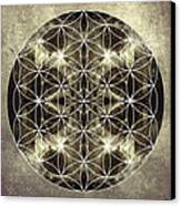 Flower Of Life Silver Canvas Print by Filippo B