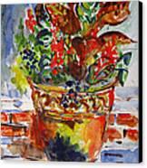 Flower Pot Canvas Print by Vladimir Kezerashvili