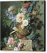Flowers In An Alabaster Vase Canvas Print