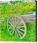 Flowers In A Wagon Canvas Print