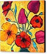 Flowers Of Love Canvas Print by Ana Maria Edulescu