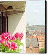 Flowers On The Balcony Canvas Print by Jeff Kolker