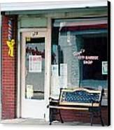 Floyd's Barber Shop Nc Canvas Print by Bob Pardue