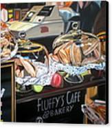 Fluffy's Cafe Canvas Print