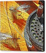 Fly Fisherman's Table Digital Art Canvas Print