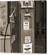 Flying A Gasoline - National Gas Pump 2 Canvas Print by Mike McGlothlen