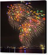 Flying Feathers Of Boston Fireworks Canvas Print