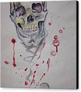 Flying Skull Canvas Print by Erik Franco